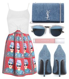 """""""street style"""" by sisaez ❤ liked on Polyvore featuring Topshop, Yves Saint Laurent, Christian Dior and shu uemura"""