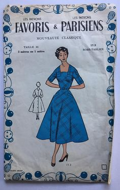 UNOPENED Fabulous 50's french vintage sewing pattern :
