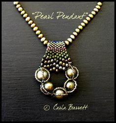 CarlaPearl Pendant---bail and pendant in one....like the gradation of beads....nice
