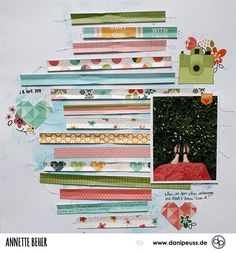 Scrapbooking Layout mit dem Februarkit | von Annette Beher für www.danipeuss.de #danipeuss #scrapbooking #memorykeeping #papercrafting #basteln Project Life, Layout, Mini, Scrapbook, Inspiration, Happy, Paper, February, Calendar