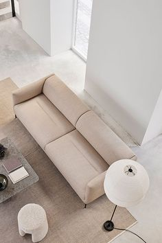 For designer Damian Williamson, the idea was to create a quiet sofa with an unspoken sense of luxury. Simple, sculptural and appealing from every angle. The Konami Sofa is a beautifully balanced design that's pure, poetic and intuitively inviting #fredericiafurniture #erikjørgensen #konami #konamisofa #damianwilliamson #interiordesign #danishdesign #scandinaviandesign #livingroomdecor #craftedtolast #modernoriginals #sofa #sofas Executive Office, Co Working, Hotel Lobby, Lounge Areas, Danish Design, Scandinavian Design, Sofas, Living Room Decor, Relax