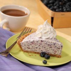 Blueberry-Vanilla Ice Cream Pie with an ice cream cone crust.  Sounds yummy!