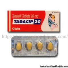 Tadacip (Tadalafil Tablets)Tadacip (Tadalafil Tablets) is taken orally on a as need basis, prior to anticipated sexual activity for the treatment of erectile dysfunction (ED) in men. The medical effect of Tadacip (Tadalafil Tablets) starts in 30 minutes and lasts for about 48 hours, while in case of Sildenafil the effect lasts for about 4 hours. Tadalafil Tablets can be taken with or without food.ED is a condition where the penis does not fill with enough blood to harden and expand when a…