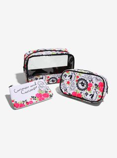 The Curiouser and Curiouser travel bags are a great start to having a great adventure. #aliceinwonderland #curious #disney