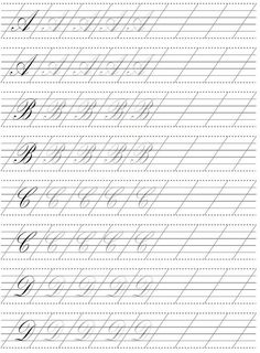 Calligraphy Practice Sheets Free, Calligraphy Lessons, Calligraphy Worksheet, Calligraphy Tutorial, Copperplate Calligraphy, Hand Lettering Practice, Hand Lettering Tutorial, Learn Calligraphy, Hand Lettering For Beginners