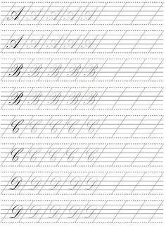 Академический рисунок Calligraphy Practice Sheets Free, Calligraphy Lessons, Calligraphy Worksheet, Copperplate Calligraphy, Calligraphy Handwriting, Learn Calligraphy, Calligraphy Letters, Alphabet Writing Practice, Cursive Alphabet