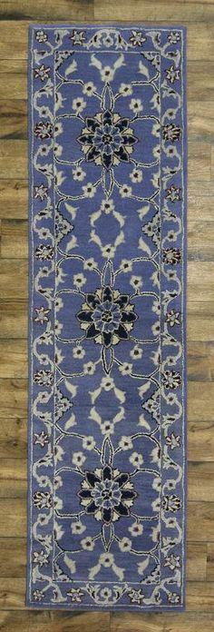 Light Blue Floral Runner 3x10 Kashan Persian Design Oriental Area Rug Carpet #TraditionalPersianOriental