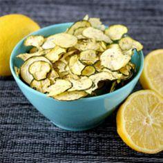 Lemon Dill Zucchini Chips