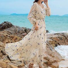 Buttoned Ruffle Layer Bohemian Dress For Women Casual Summer Dresses, Summer Dresses For Women, Long Sleeve Floral Dress, Short Sleeve Dresses, Bohemia Dress, Stitching Dresses, Linen Shirt Dress, Suspender Dress, Plus Dresses