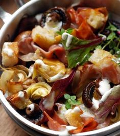 Cuisine : salade d'automne aux champignons et aux artichauts Berry Smoothie Recipe, Easy Smoothie Recipes, Snack Recipes, Dorian Cuisine, Coconut Milk Smoothie, Homemade Frappuccino, Grilled Fruit, Healthy Snacks, Healthy Recipes