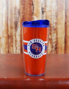 SHSU Tumbler! Get your drink on while showing your school spirit in this snazzy Sam Houston State Tumbler! This is perfect for tailgating! Go bearkats!