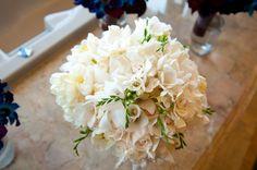 white flowers, freezia, lizzy, white roses, etc