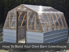 How To Build Your Own Barn Greenhouse – Free Step By Step Plans...http://homestead-and-survival.com/how-to-build-your-own-barn-greenhouse-free-step-by-step-plans/