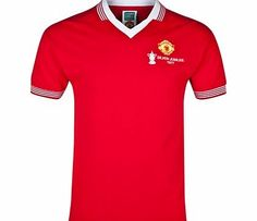 Manchester United 1977 Retro Home Shirt - Red Manchester United Merchandise, Retro Football Shirts, Jersey Atletico Madrid, Embroidered Badges, Man United, Retro Home, Liverpool Fc, Sportswear, T Shirts