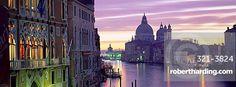 View at dusk along Grand Canal towards Santa Maria Della Salute from Accademia Bridge, Venice, UNESCO World Heritage Site, Veneto, Italy, Europe