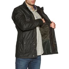 Barbour Corbridge Men's Wax Jacket Mens Wax Jackets, Smart Casual Attire, Barbour Mens, Hooded Bomber Jacket, Country Attire, Go Fit, Types Of Jackets, British Style, Snug Fit
