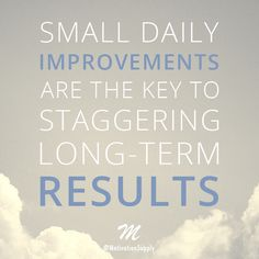 Small daily improvements are the key to staggering long-term results!  ►► http://motivationsupply.com  #motivationsupply #motivation #success #entrepreneur #dreambig #grinding #inspiration #quote #relentless #passion #greatness #business