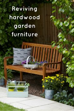 Giving hardwood garden furniture a new lease of life with Sadolin Garden Furniture Stain and Protector.