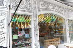 Doodled storefront