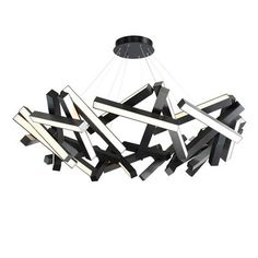 Modern Forms Chaos LED Geometric Chandelier Finish: B Round Chandelier, Black Chandelier, Chandelier Shades, Chandelier Lighting, Chandeliers, Pendant Lights, Travel Light, Round Pendant, All Modern