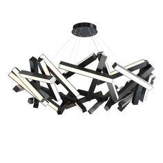 Modern Forms Chaos LED Geometric Chandelier Finish: B Wheel Chandelier, Round Chandelier, Black Chandelier, Chandelier Shades, Chandeliers, White Acrylics, Travel Light, Round Pendant, Modern Lighting