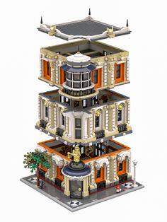 The Justice Palace - Lego sets - Lego Modular, Lego Building Blocks, Lego Blocks, Lego Design, Modular Design, Legos, Lego Lego, Lego Star Wars, Modele Lego