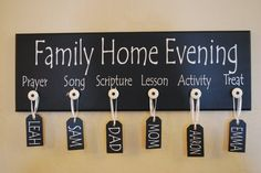 family home evening board - some variation of this probably