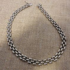 """Panther Link Style Sterling Silver Necklace – 15.5"""" $95.00"""
