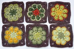 african flower squares, have to try those some time