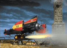 Image from the Gerry Anderson television series, FIREBALL 60s Tv Shows, Thunderbirds Are Go, Tv Themes, Sci Fi Ships, Classic Sci Fi, Sci Fi Tv, Lost In Space, Retro Toys, Funny Stuff