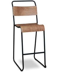 Tubular steel and plywood. Classically modernist, the Bruno Pollock Replica, combines tubular steel and bent plywood with minimal elegance. A functional piece that is lightweight and stackable has ensured its popularity since the 1930