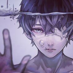 anime, and kaneki ken Manga Boy, Manga Anime, Boys Anime, Fanarts Anime, Sad Anime, Cute Anime Boy, Anime Kawaii, Anime Crying, Ken Kaneki Tokyo Ghoul