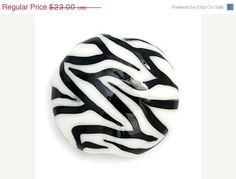 ON SALE 30 OFF Zebra Stripes Lentil Focal Bead  by gracebeads, $16.10