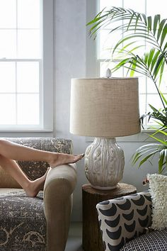 The plant! Not expensive but lovely. Grasslands Lamp Ensemble - anthropologie.com