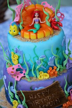 Ariel Cake by Sweet Charity's, via Flickr