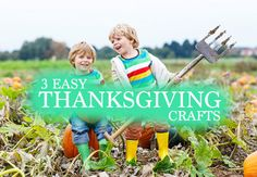 3 Easy Thanksgiving Crafts to Make With Your Kids