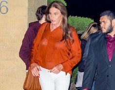CAITLYN JENNER STEPS OUT IN A REVEALING TOP FOR DINNER IN MALIBU