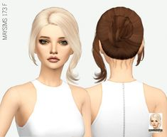 Miss Paraply: Maysims 173 F hair retextured • Sims 4 Downloads