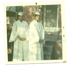 Harrietta and Virginia Fowler (now Virginia Walden Ford) graduating from Central High in 1969.