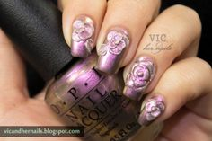 Vic and Her Nails: The Digital Dozen Does Metal - Day 2: Metal Roses