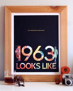 """1963"" Mad Men Art Print No. 05. Limited edition hand printed silkscreen poster."