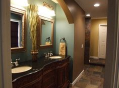 Small Bathroom Color Schemes | ... color scheme match the colors in the master bedroom, Bathrooms Design