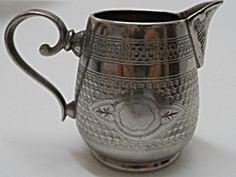 Vintage Polish Art Deco Silver-plated Brass Cream Jug, Plewkiewicz Warszawie