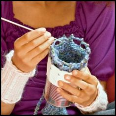 Turn A Tin-Can Into A Corking / Hand Knitting Machine