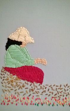 Embroidery. Adding texture & color! www.marybalda.com