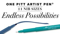 Faber-Castell's Pitt Artist Pen ® collection offers vibrant colors of India ink; including 60 colors and six metallics. With eleven different nib sizes available in various colors, this collection provides endless possibilities for an inspired artist. There is a nib size for any outlet of art. No matter if you are illustrating, journaling, hand lettering, or creating a more traditional route of expression, we have you covered. Pitt Artist Pens, Pen Collection, India Ink, Faber Castell, Hand Lettering, Journaling, Vibrant Colors, Traditional, Inspired