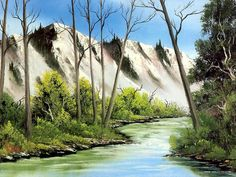 Peaceful Landscape Paintings by Bob Ross  - Bob Ross  Landscape Oil Paintings : Aizona splendor  19