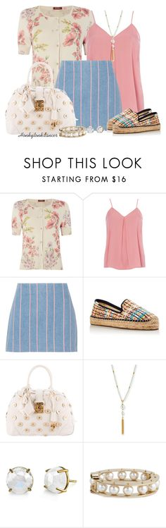 """""""Pattern Mix Plaid, Dots,Floral, Stripe"""" by honkytonkdancer ❤ liked on Polyvore featuring MaxMara, Dorothy Perkins, T By Alexander Wang, Soludos, Louis Vuitton, Sequin, Irene Neuwirth and Lele Sadoughi"""