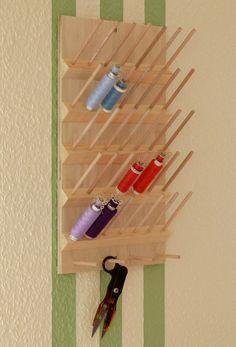 Garnrollenhalter - Garnrollenhalter & Spulenhalter für 35 Spulen - ein Designerstück von Stoffscheune bei DaWanda