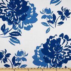 Carver Brooke Twill White/Blue - Discount Designer Fabric - Fabric.com